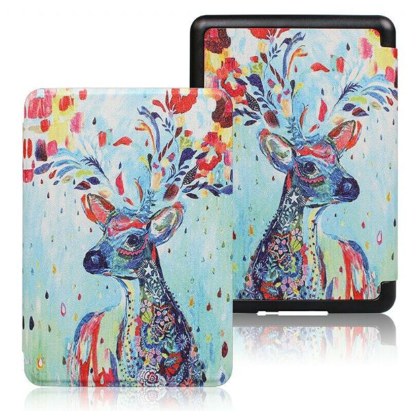 Kindle Paperwhite Art Case Cover Colourful Deer